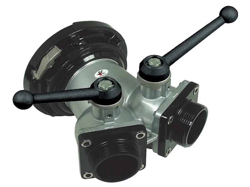 21K 2 Way Ball Valve Storz Inlet X (2) Threaded Male Outlet